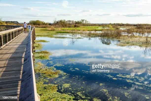 Gainesville, Paynes Prairie, LaChua Trail Trailhead, nature boardwalk.