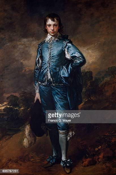 Gainsborough's The Blue Boy is believed to be a portrait of Jonathan Buttall the son of a wealthy London hardware dealer 1770 Located in Huntington...