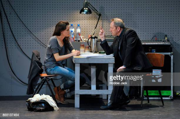Gaite Jansen as Anna and Gijs Scholten van Aschat as Hendrik Vogler in Taneelgroup Amsterdam's production of Ingmar Bergman's After the Rehearsal...