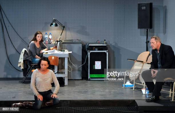 Gaite Jansen as Anna Marieke Heebink as Rachel and Gijs Scholten van Aschat as Hendrik Vogler in Taneelgroup Amsterdam's production of Ingmar...