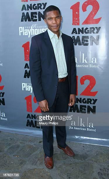 Gaius Charles attends '12 Angry Men' at the Pasadena Playhouse on November 10 2013 in Pasadena California