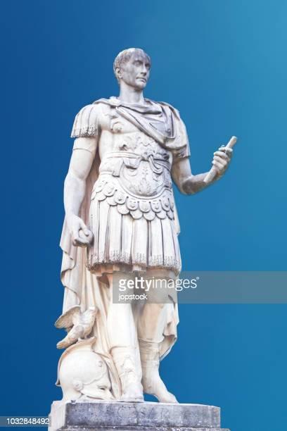 gaius julius caesar statue in paris, france - julius caesar stock photos and pictures