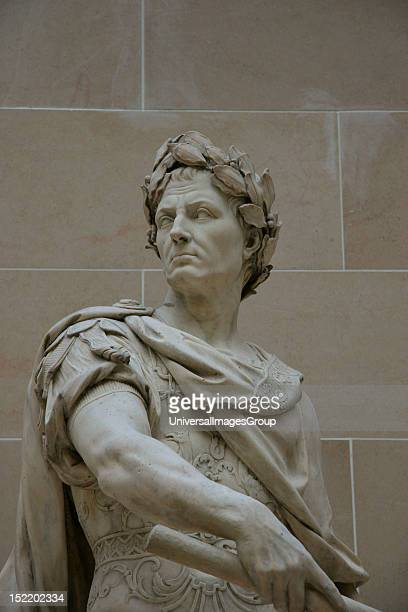 Gaius Julius Caesar Was a roman military and political leader Statue made by Nicolas Coustou Louvre Museum Paris Francia Europa
