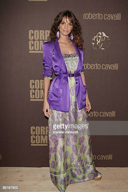 Gaja Bermani Amaral attends ''The Cavalli Card Party'' during Milan Fashion Week Womenswear Autumn/Winter 2009 at the Teatro Franco Parenti on March...