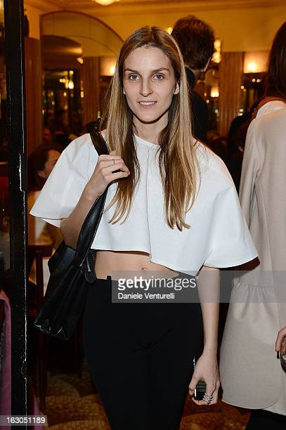 Gaja Repossi attends the Bulgari And Purple Magazine Party at Cafe de Flore on March 3, 2013 in Paris, France.