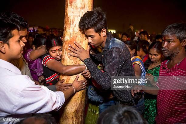 Gajan Festival and Charak Puja of West Bengal, India -17