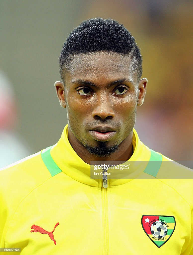 Gakpe Serge Selom of Togo during the 2013 Africa Cup of Nations Quarter-Final match between Burkina Faso and Togo at the Mbombela Stadium on February 3, 2013 in Nelspruit, South Africa.