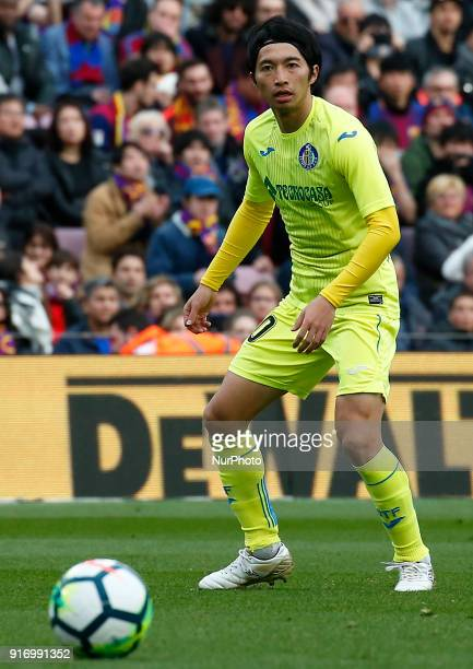Gaku Shibasaki during the match between FC Barcelona and Getafe CF for the round 23 of the Liga Santander played at the Camp Nou Stadium on 11th...