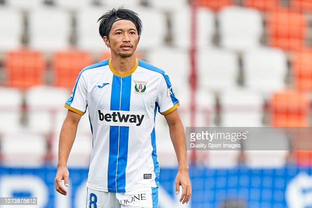 Gaku Shibasaki of CD Leganes looks on during the La Liga Smartbank match between CD Lugo and CD Leganes at Anxo Carro Stadium on September 20, 2020...