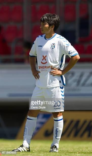 Gaku Shibasaki of CD Tenerife looks on after CD Numancia scored their 1st goal in the La Liga Segunda Division match between CD Numancia and CD...