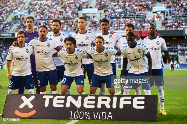 Gaku Shibasaki of CD Tenerife pose for a photograph during La Liga 2 play off round between CD Tenerife and at Heliodoro Rodriguez Lopez Stadium on...