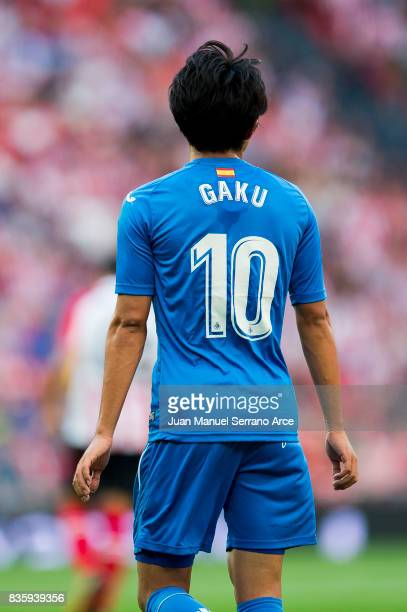 Gaku Shibasaki of Getafe CF reacts during the La Liga match between Athletic Club and Getafe at at San Mames Stadium on August 20 2017 in Bilbao Spain