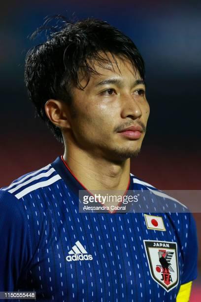 Gaku Shibasaki of Japan before game as part of Copa America Brazil 2019 at Morumbi Stadium on June 17, 2019 in Sao Paulo, Brazil.
