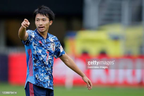 Gaku Shibasaki of Japan during the International Friendly match between Japan v Cameroon at the Stadium Galgenwaard on October 9, 2020 in Utrecht...