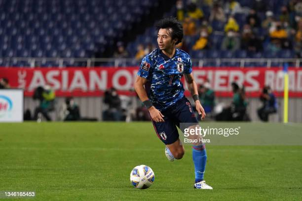 Gaku Shibasaki of Japan in action during the FIFA World Cup Asian qualifier final round Group B match between Japan and Australia at Saitama Stadium...