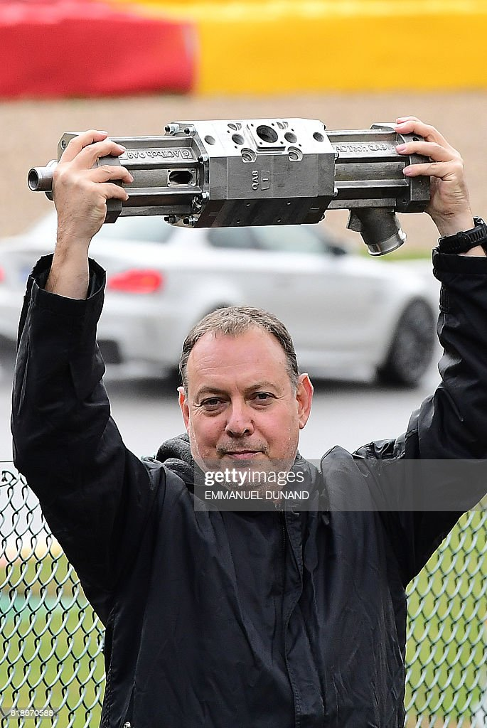 Gal Fridman, Co-Founder, Aquarius Engines poses for a photo with a ...