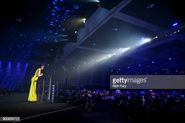 Gal Gadot accepts Rising Star onstage at the 29th Annual Palm Springs International Film Festival Awards Gala at Palm Springs Convention Center on...