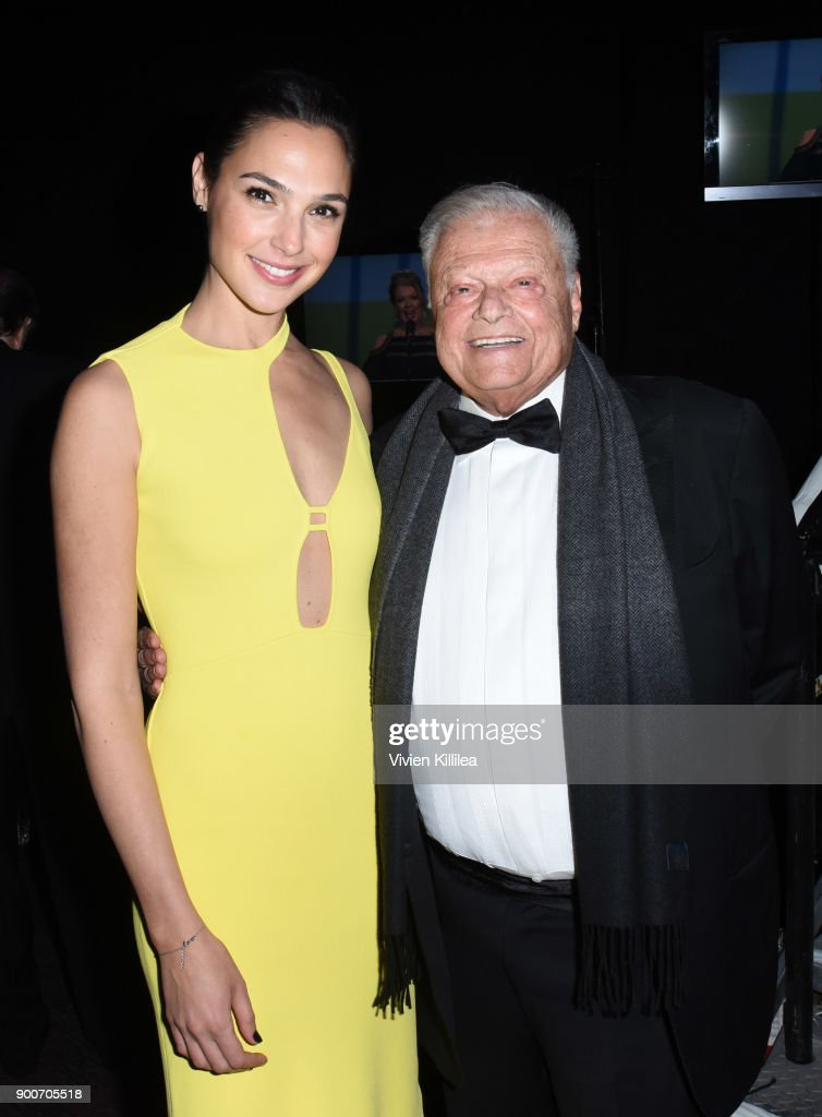 Gal Gadot and Chairman of the Palm Springs International Film Festival Harold Matzner attend the 29th Annual Palm Springs International Film Festival at Palm Springs Convention Center on January 2, 2018 in Palm Springs, California.