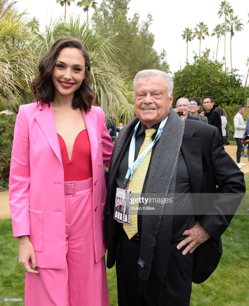 Gal Gadot and Chairman of the Palm Springs International Film Festival Harold Matzner attend the 29th Annual Palm Springs International Film Festival at Parker Palm Springs on January 3, 2018 in Palm Springs, California.
