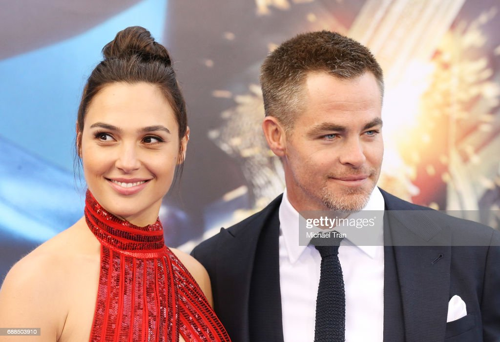 Gal Gadot and Chris Pine arrive at the Los Angeles premiere of Warner Bros. Pictures' 'Wonder Woman' held at the Pantages Theatre on May 25, 2017 in Hollywood, California.
