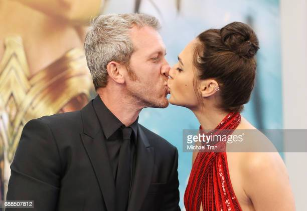 Gal Gadot and husband Yaron Versano arrive at the Los Angeles premiere of Warner Bros Pictures' 'Wonder Woman' held at the Pantages Theatre on May 25...