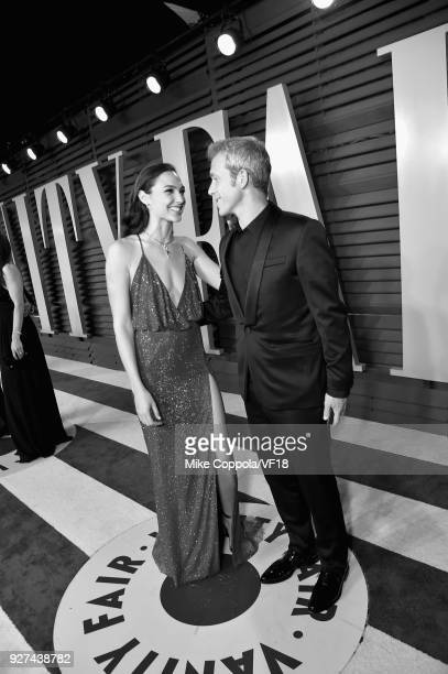 Gal Gadot and Yaron Varsano attend the 2018 Vanity Fair Oscar Party hosted by Radhika Jones at Wallis Annenberg Center for the Performing Arts on...