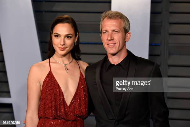 Gal Gadot and Yaron Varsano attends the 2018 Vanity Fair Oscar Party Hosted By Radhika Jones Arrivals at Wallis Annenberg Center for the Performing...