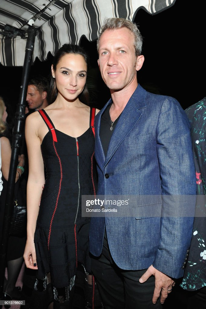 Gal Gadot (L) and Yaron Versano attend W Magazine's Celebration of its 'Best Performances' Portfolio and the Golden Globes with Audi, Dior, and Dom Perignon at Chateau Marmont on January 4, 2018 in Los Angeles, California.