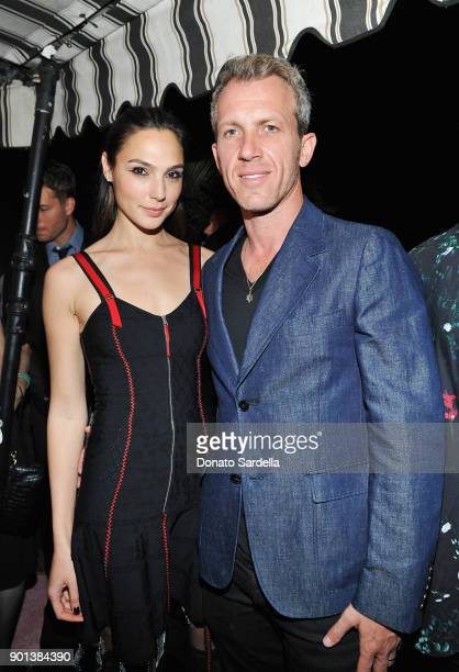 Gal Gadot and Yaron Versano attend W Magazine's Celebration of its 'Best Performances' Portfolio and the Golden Globes with Audi Dior and Dom...