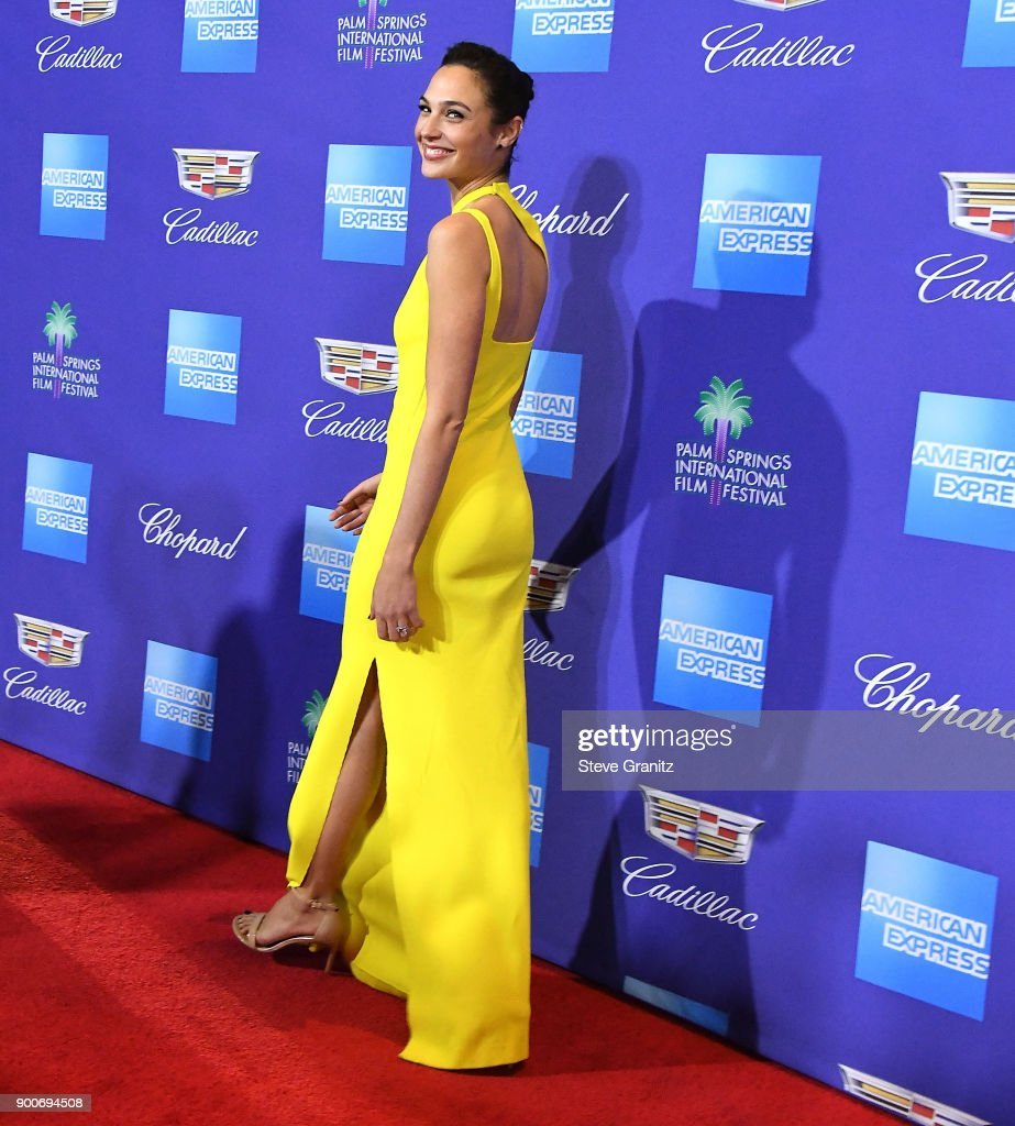 Gal Gadot arrives at the 29th Annual Palm Springs International Film Festival Film Awards Gala at Palm Springs Convention Center on January 2, 2018 in Palm Springs, California.