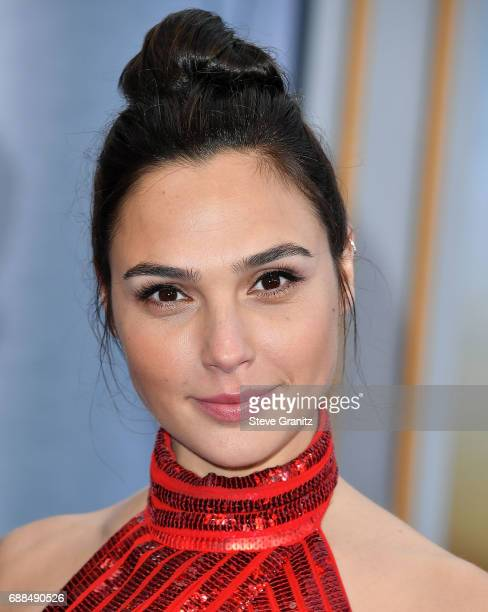 Gal Gadot arrives at the Premiere Of Warner Bros Pictures' 'Wonder Woman' at the Pantages Theatre on May 25 2017 in Hollywood California