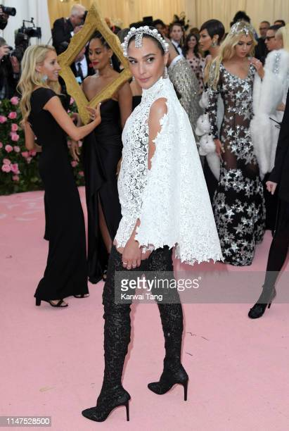 Gal Gadot arrives for the 2019 Met Gala celebrating Camp Notes on Fashion at The Metropolitan Museum of Art on May 06 2019 in New York City