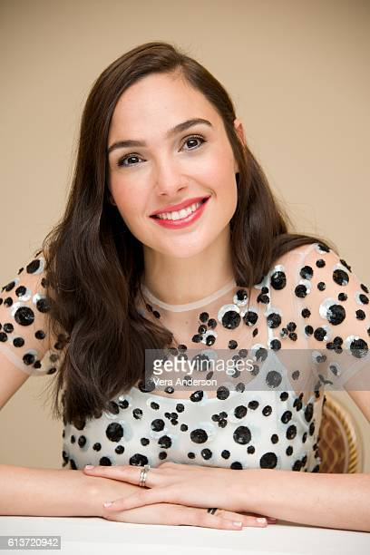 Gal Gadot at the 'Keeping Up with the Joneses' Press Conference at the Fairmont Miramar Hotel on October 8 2016 in Santa Monica California