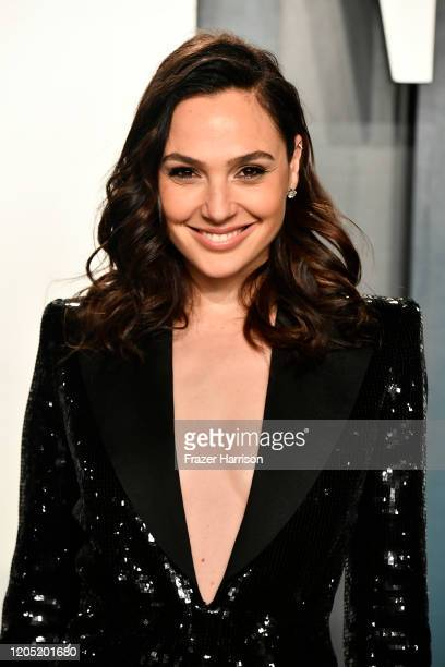 Gal Gadot attends the 2020 Vanity Fair Oscar Party hosted by Radhika Jones at Wallis Annenberg Center for the Performing Arts on February 09 2020 in...