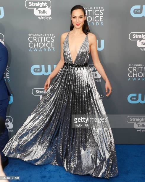 Gal Gadot attends the 23rd Annual Critics' Choice Awards at Barker Hangar on January 11 2018 in Santa Monica California