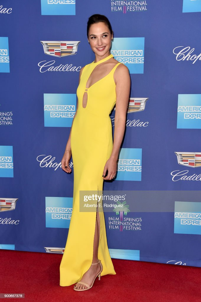 Gal Gadot attends the 29th Annual Palm Springs International Film Festival Awards Gala at Palm Springs Convention Center on January 2, 2018 in Palm Springs, California.