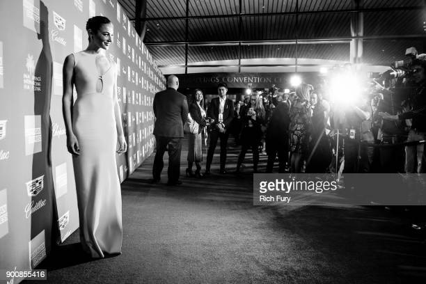 Gal Gadot attends the 29th Annual Palm Springs International Film Festival Awards Gala at Palm Springs Convention Center on January 2 2018 in Palm...