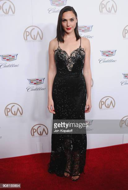 Gal Gadot attends the 29th Annual Producers Guild Awards at The Beverly Hilton Hotel on January 20 2018 in Beverly Hills California
