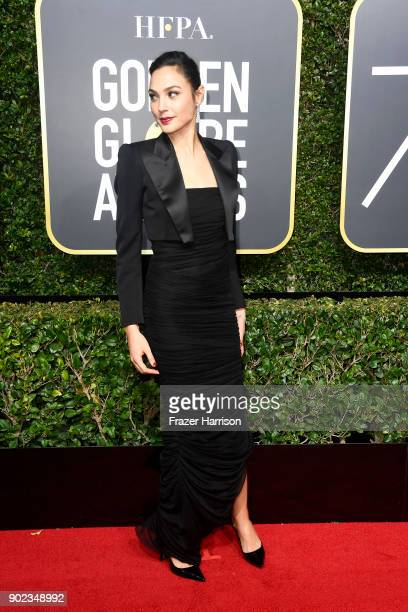 Gal Gadot attends The 75th Annual Golden Globe Awards at The Beverly Hilton Hotel on January 7 2018 in Beverly Hills California