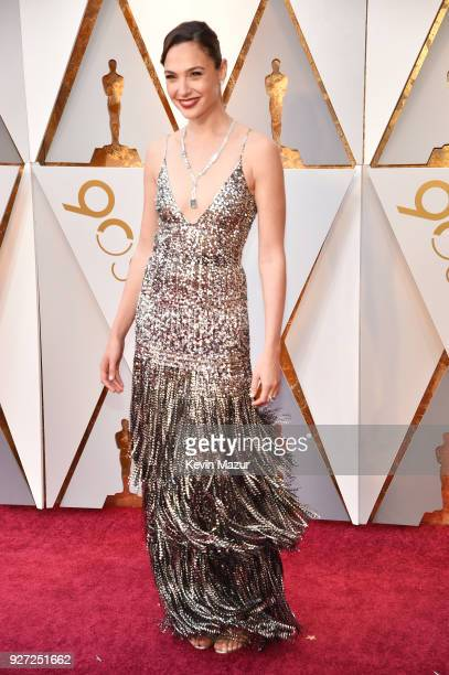 Gal Gadot attends the 90th Annual Academy Awards at Hollywood Highland Center on March 4 2018 in Hollywood California