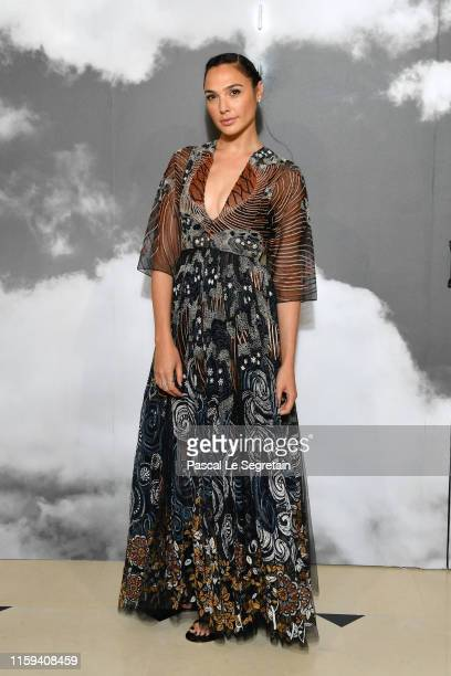 Gal Gadot attends the Christian Dior Haute Couture Fall/Winter 2019 2020 show as part of Paris Fashion Week on July 01 2019 in Paris France