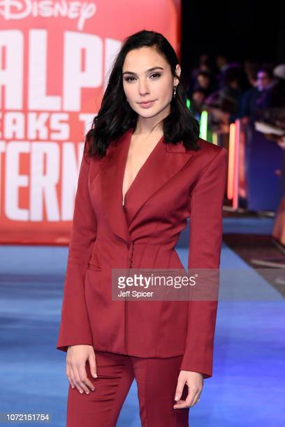 Gal Gadot attends the European Premiere of Ralph Breaks The Internet at The Curzon Mayfair on November 25 2018 in London England