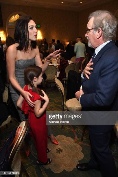 Gal Gadot Brooklynn Prince and Steven Spielberg attend the 18th Annual AFI Awards at Four Seasons Hotel Los Angeles at Beverly Hills on January 5...