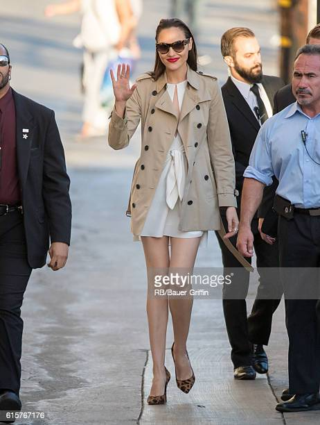 Gal Gadot is seen at 'Jimmy Kimmel Live' on October 19 2016 in Los Angeles California