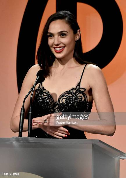 Gal Gadot on stage at the 29th Annual Producers Guild Awards at The Beverly Hilton Hotel on January 20 2018 in Beverly Hills California