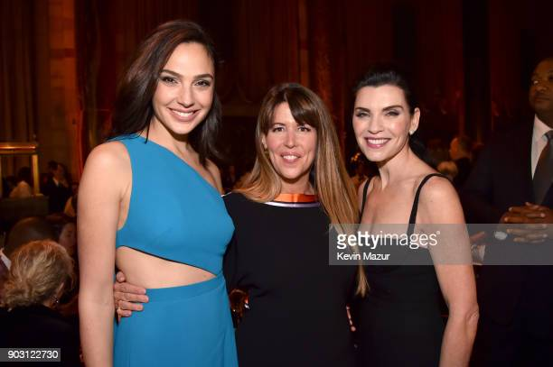 Gal Gadot Patty Jenkins and Julianna Margulies attend the National Board of Review Annual Awards Gala at Cipriani 42nd Street on January 9 2018 in...