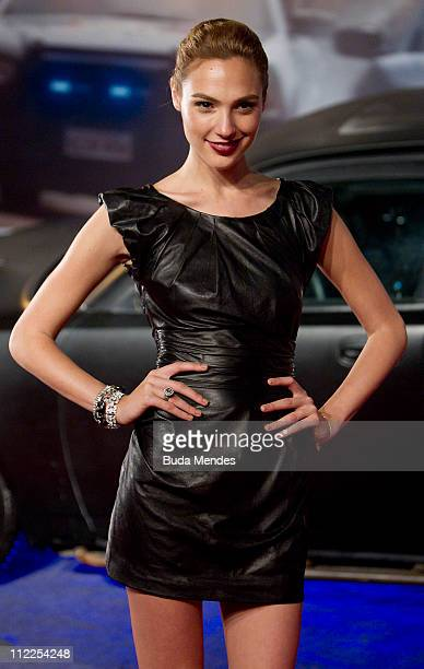Gal Gadot poses for photographers during the premiere of the movie 'Fast and Furious 5' at Cinepolis Lagoon on April 15 2011 in Rio de Janeiro Brazil