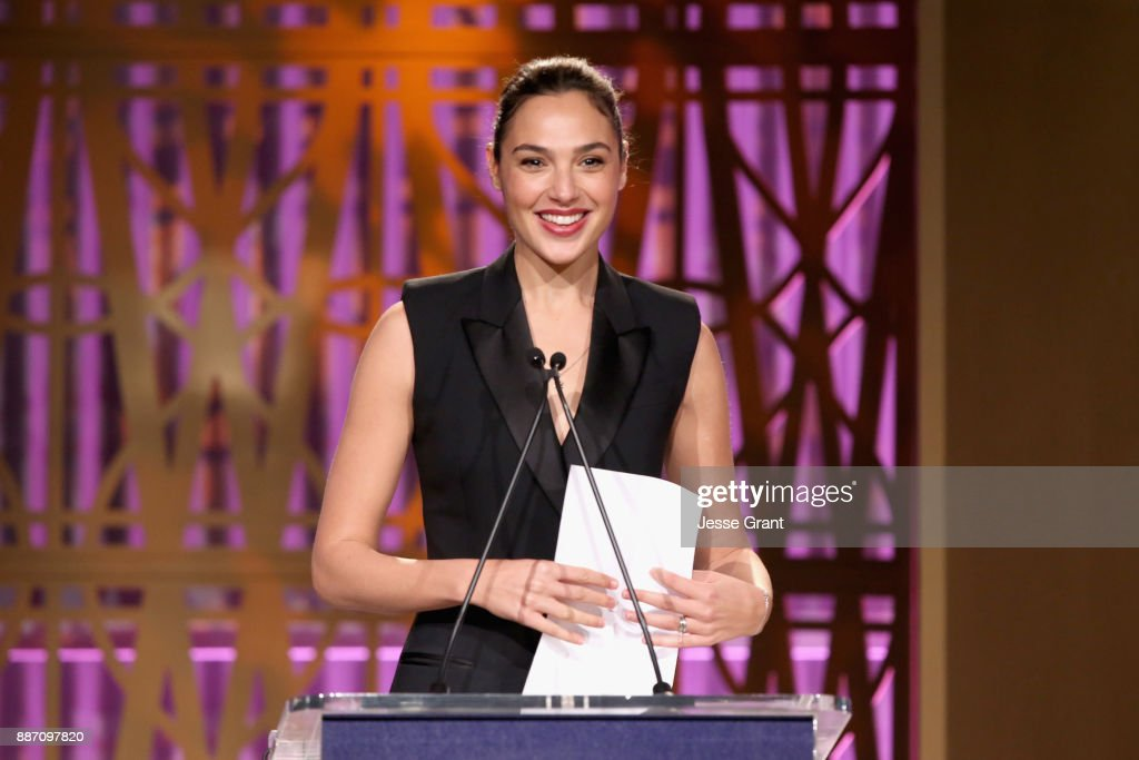Gal Gadot speaks onstage at The Hollywood Reporter's 2017 Women In Entertainment Breakfast at Milk Studios on December 6, 2017 in Los Angeles, California.