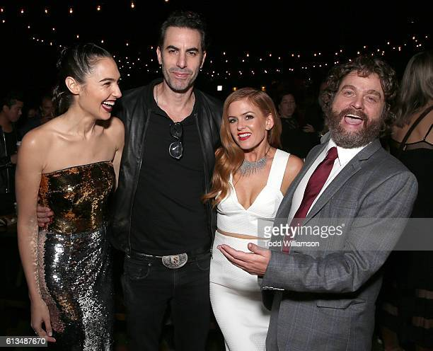 Gal Godot Sacha Baron Cohen Isla Fisher and Zach Galifianakis attend the after party for the Premiere Of 20th Century Fox's 'Keeping Up With The...