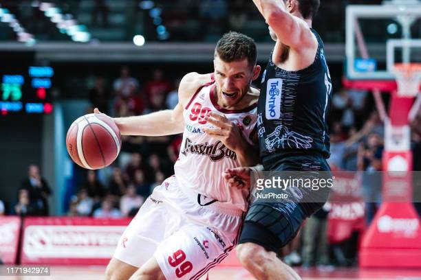 Gal Mekel of Grissin Bon Reggio Emilia during the Italy Lega Basket of Serie A match between Grissin Bon Reggio Emilia and Dolomiti Energia Trentino...